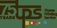 thysse printing service logo