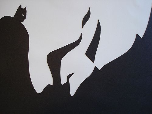 An example of negative space featuring Batman and the Joker - this helps demonstrate ways of creating innovative marketing strategies by leveraging your negative space.